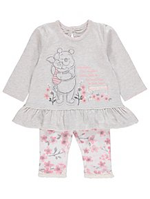 Disney Winnie The Pooh Grey Top and Leggings Outfit c5e84e8e9ae0