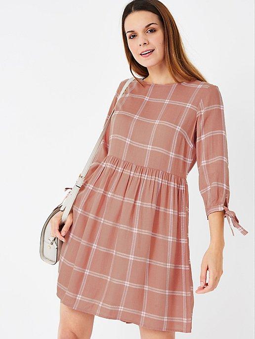 ba6bde2075ba4 Pink Check Print Smock Dress   Women   George