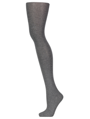 Grey Cotton Soft Opaque Thermal Tights