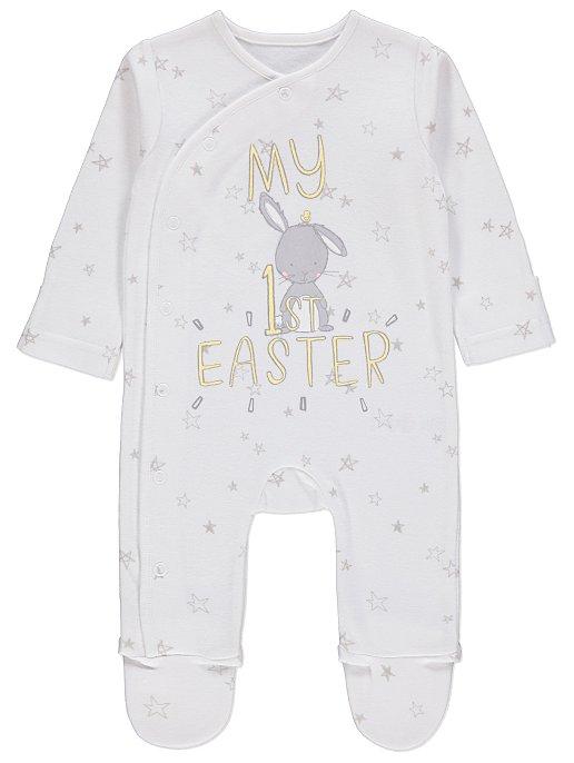 6fa224e8e White My 1st Easter Sleepsuit