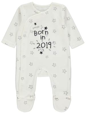 Born In 2019 Star Sleepsuit