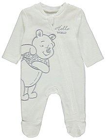 Disney Christopher Robin Winnie the Pooh Fleece Sleepsuit a59cc5561