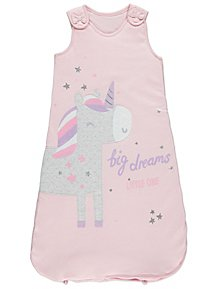 527bd9a57f69 Pink Unicorn 2.5 Tog Sleeping Bag