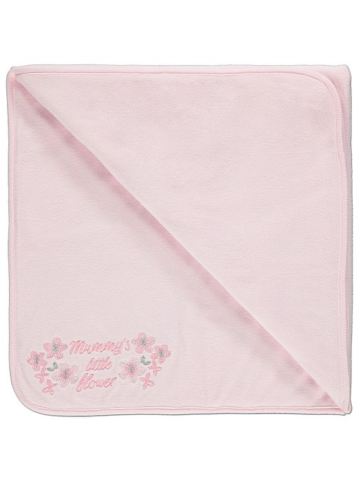 Pink Embroidered Fleece Blanket Baby