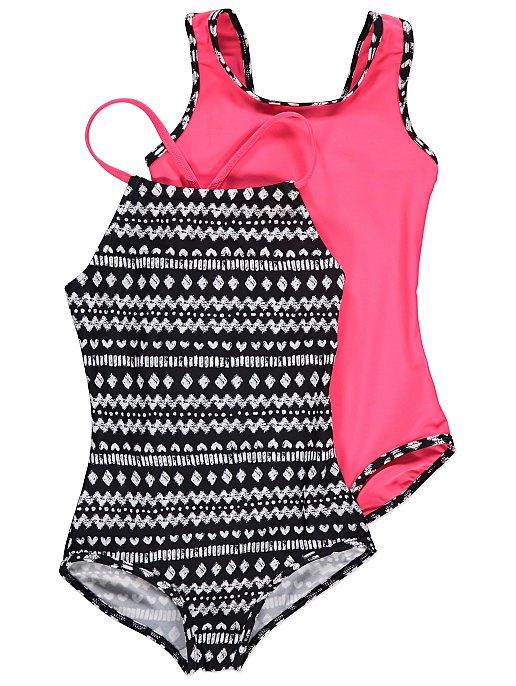 60f9e3cc4d Assorted Aztec Print Swimsuits 2 Pack | Kids | George