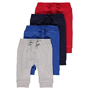 Assorted Colour Joggers 4 Pack