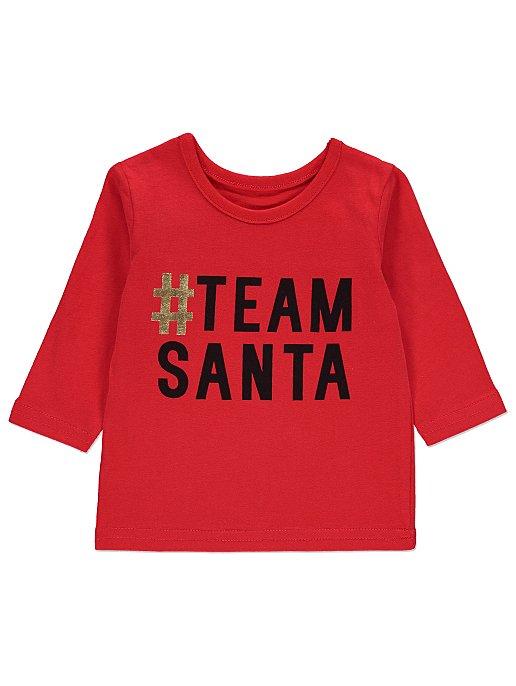 4d01ec7732 Red Team Santa Baby Mini Me Christmas Top