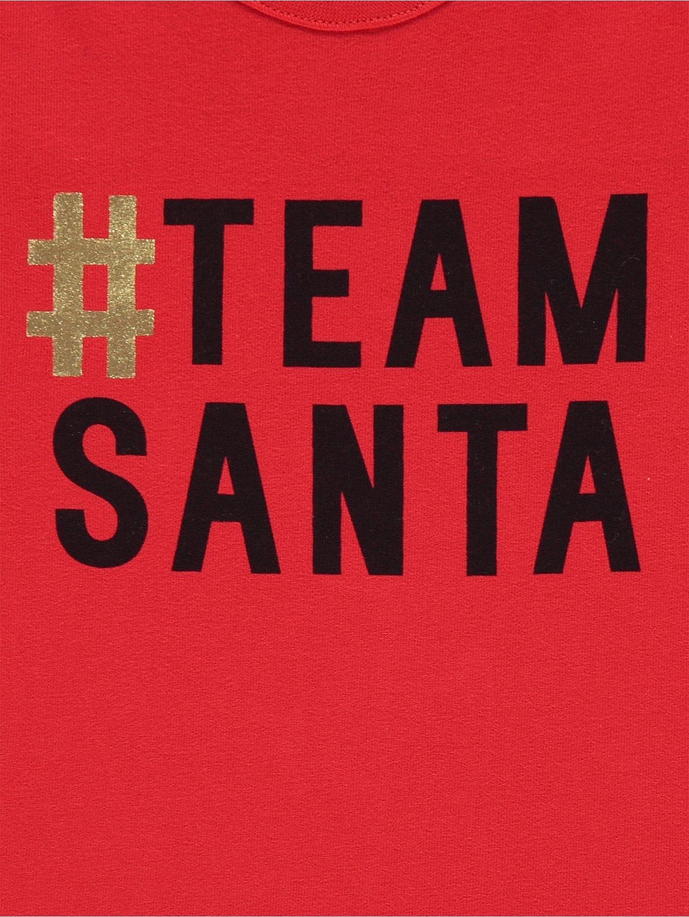 a943cdc546 Red Team Santa Baby Mini Me Christmas Top. Reset