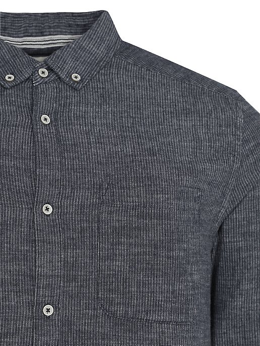 484fdc356 Navy Striped Button-Down Long Sleeve Shirt | Men | George