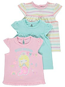 Clever Baby Girl's Pink & White Floral 'bubble' Top & Trouser Set 0-3 Months George
