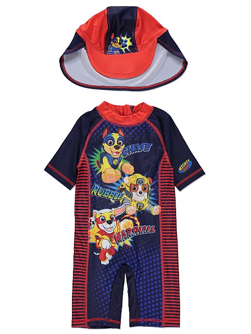 5dd5fcba9 PAW Patrol Sun Protection UV40 Swimsuit and Hat Set | Kids | George