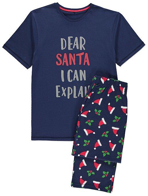 Navy Glittering Adult Mini Me Christmas Pyjamas. Reset a423d731b