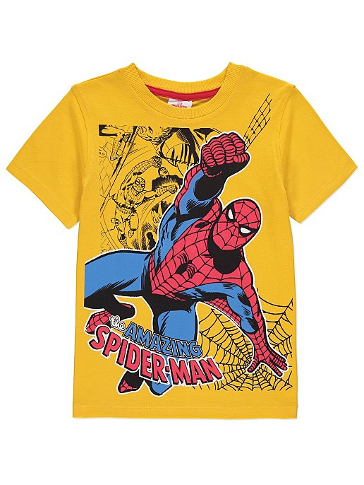 0fad1ffda82 Marvel Spider-Man Yellow Graphic T-Shirt
