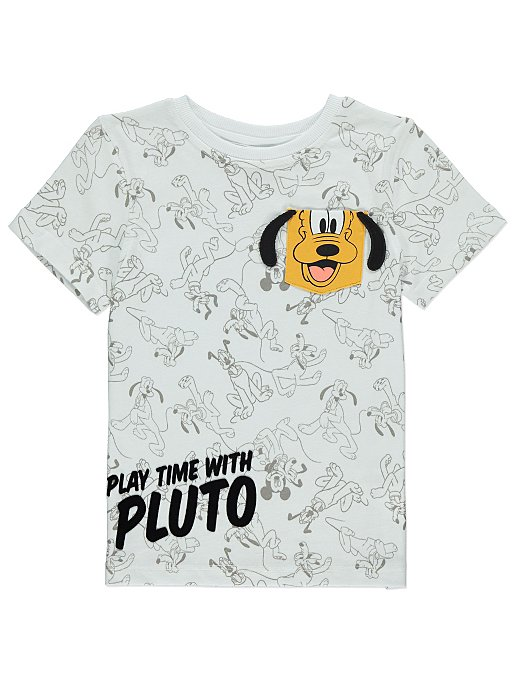 8ab741a4 Disney Pluto White T-Shirt | Kids | George