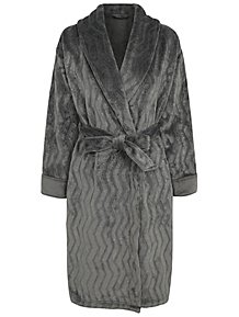 Charcoal Fleece Glitter Textured Dressing Gown 0f3533976