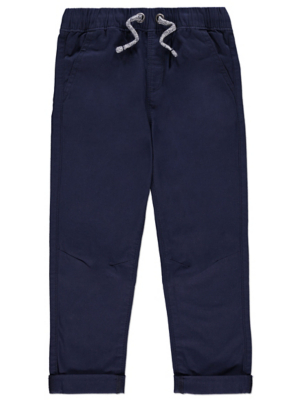 Navy Elasticated Waistband Trousers