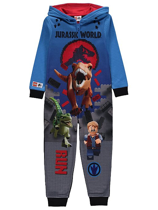 fc23f684a LEGO Jurassic World Blue Fleece Hooded Onesie