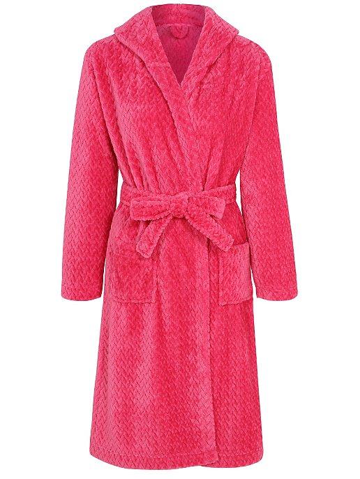 Pink Fleece Hooded Dressing Gown. Reset df413ada1
