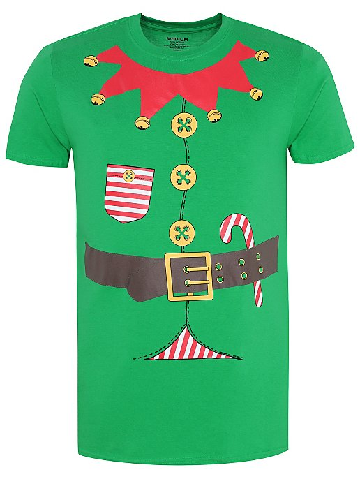 cbad632f40d Green Elf Christmas T-Shirt