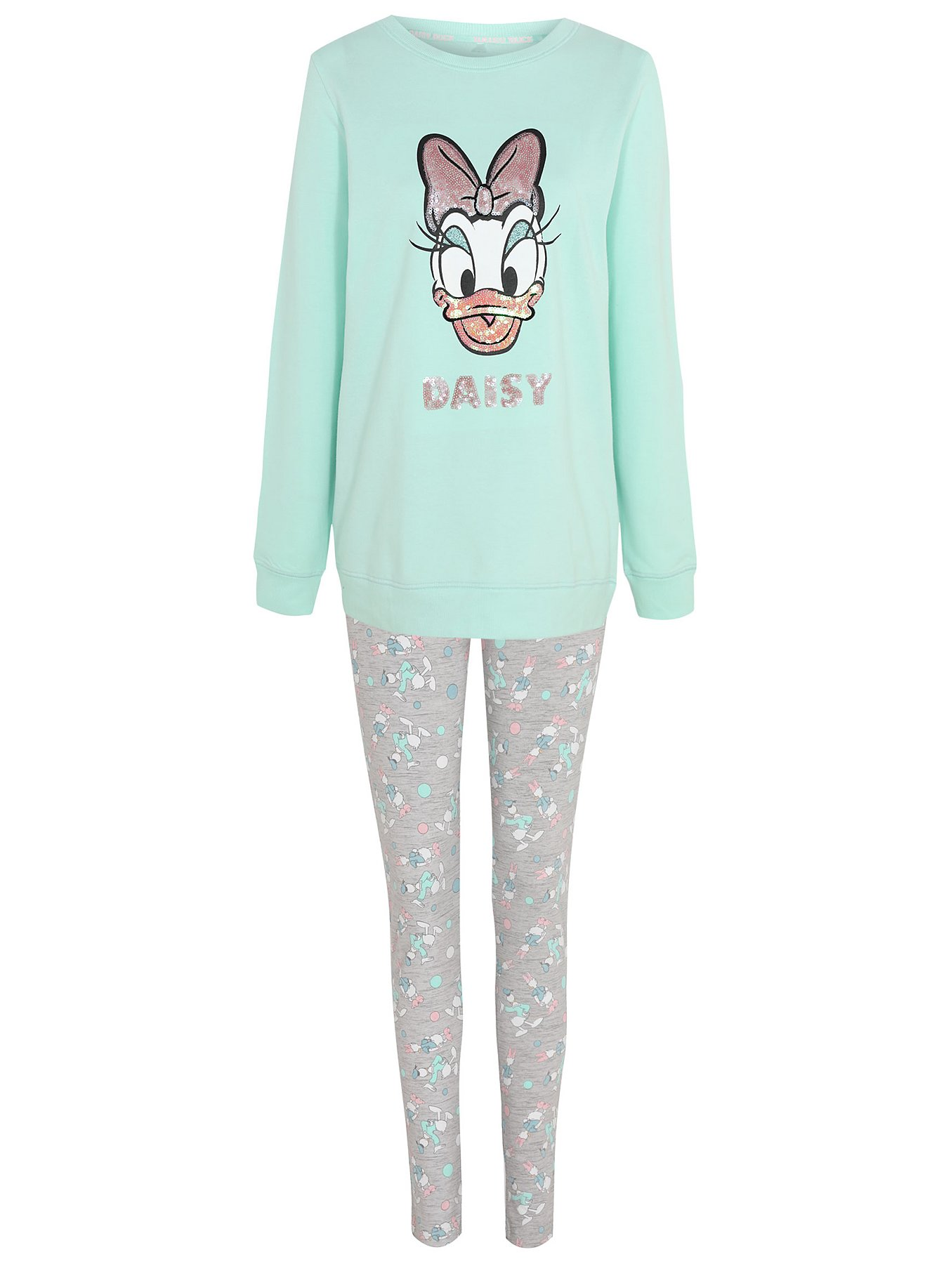 Disney Womens Daisy Duck Face Sweatshirt
