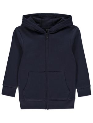 Navy Marl Zip-Up Hoodie