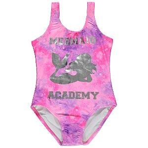 Pink Mermaid Foil Swimming Costume