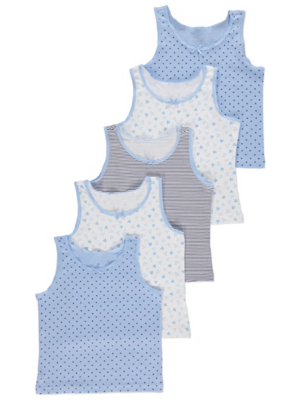 Assorted Printed Vests 5 Pack