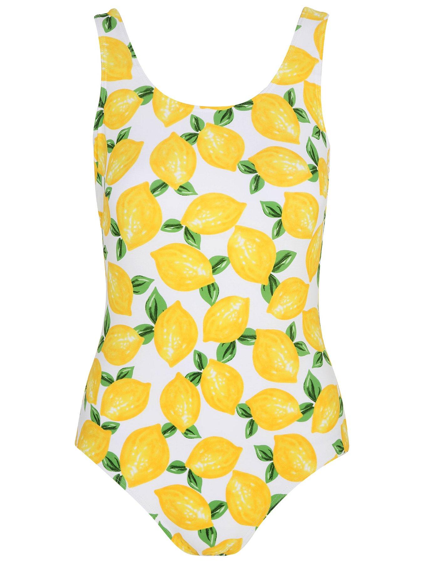 854d92c6c Yellow Lemon Print Swimsuit | Women | George