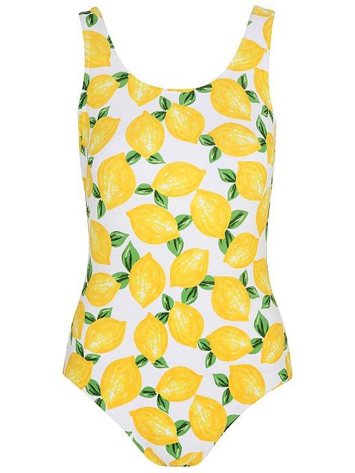 d387f3ee0a Yellow Lemon Print Swimsuit | Women | George