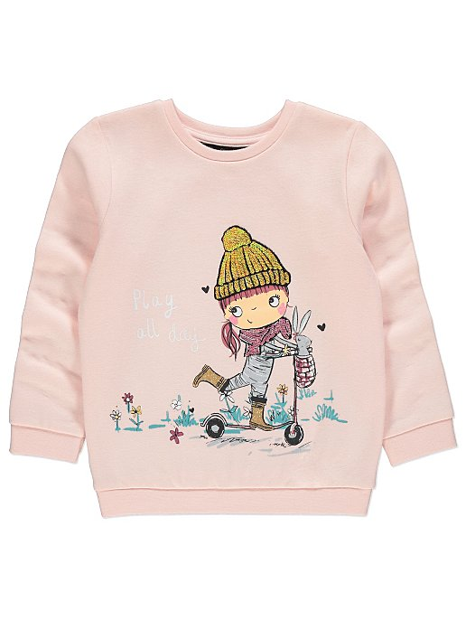 5acb991a Pink Play All Day Sweatshirt | Kids | George