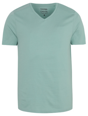 Green V Neck T-Shirt
