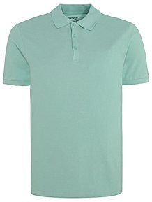 Green Pique Short Sleeve Polo Shirt 059ffa8f53cd