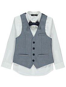 65a87974b68 Chambray Grey Waistcoat