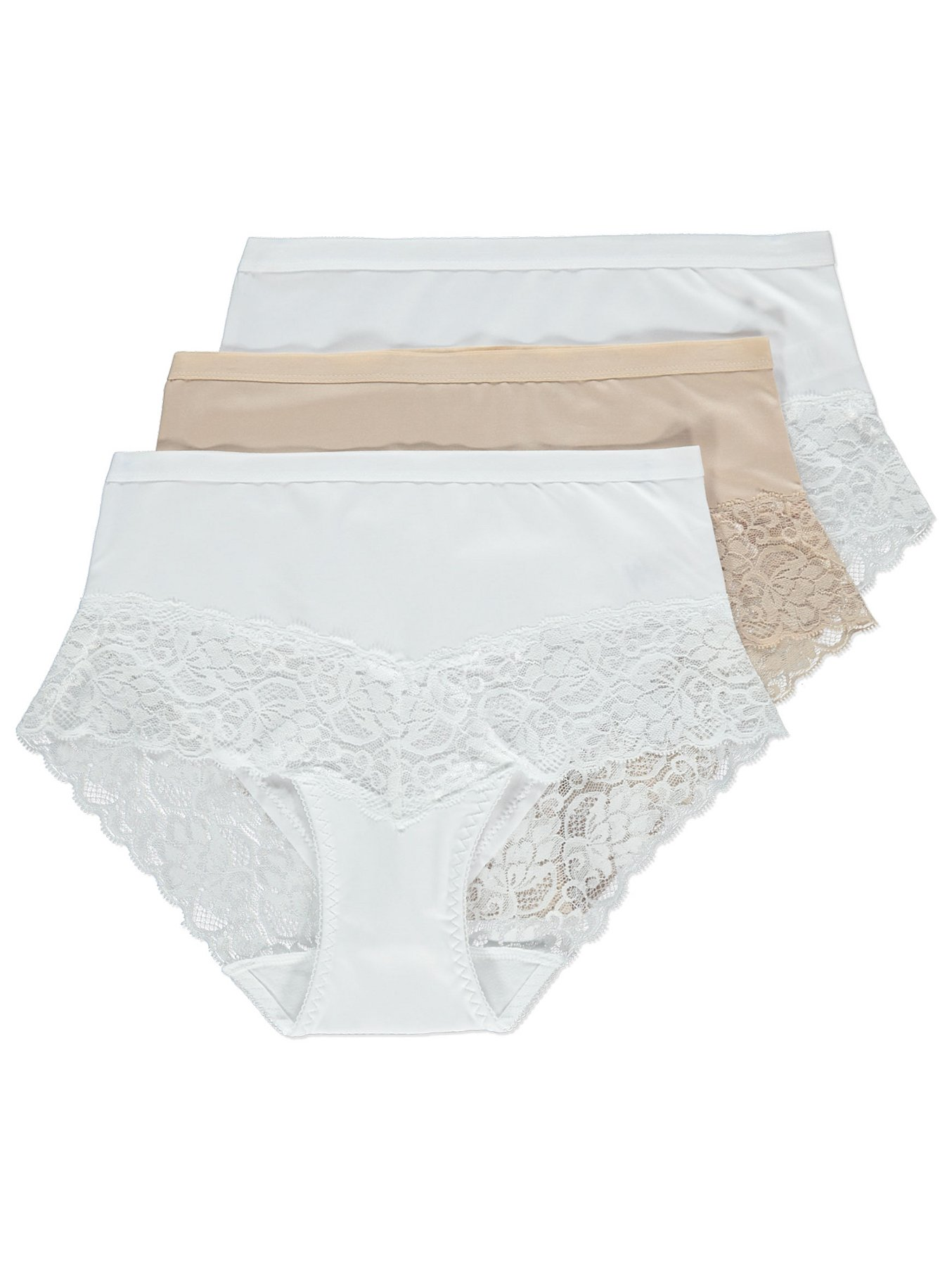 cd8f691b18e78 Lace Trim Full Briefs 3 Pack | Women | George