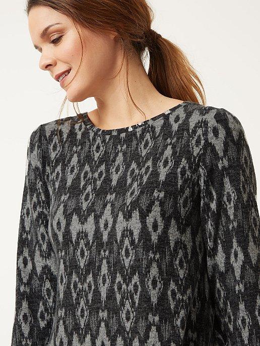 9e8eec3c120 Grey Printed Tunic Dress | Women | George