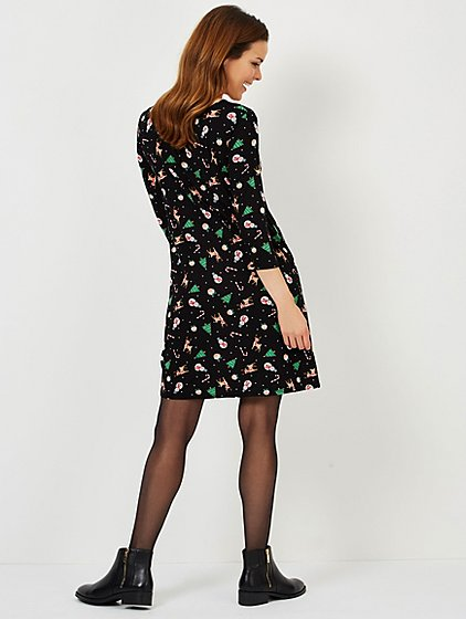 black swing adult mini me christmas dress women george - Black Christmas Dress