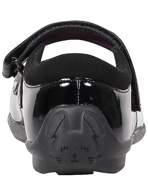 e50894af918 Black Bunny Rabbit Detail Patent Wide Fit School Shoes