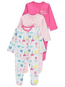 d0ac9c4a26e7 Baby Girls Sleepsuits   Pyjamas