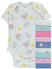 c8f46a87c36 Assorted Rainbow Print Bodysuits 10 Pack