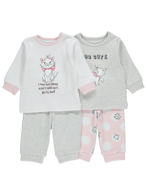 eaeec5bb81 Disney Aristocats Marie Slogan Pyjamas 2 Pack