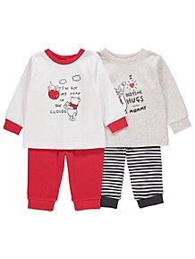 4c40478850fe Disney Winnie the Pooh Pyjamas 2 Pack