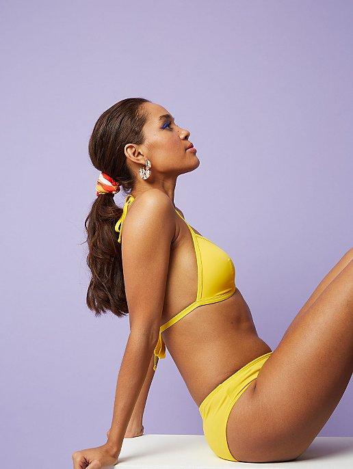2365df7e94e13 Yellow Triangle Bikini Top. Reset
