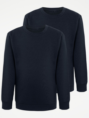 Navy School Sweatshirt 2 Pack