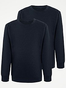 2891face37b Navy School Sweatshirt 2 Pack