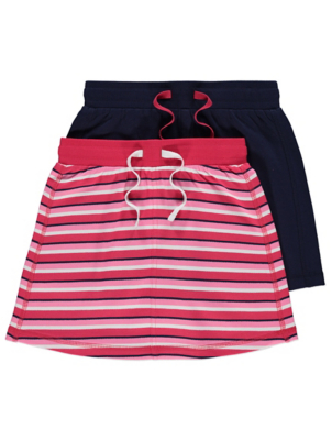 Striped Jersey Skirts 2 Pack