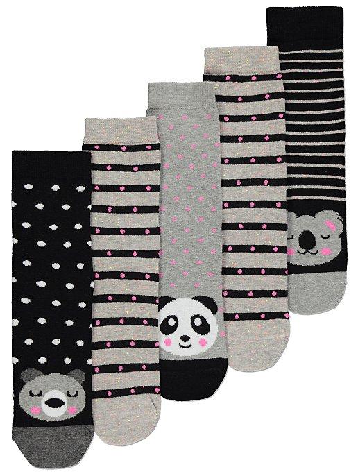 d780ae5422ee Animal Print Socks 5 Pack | Women | George