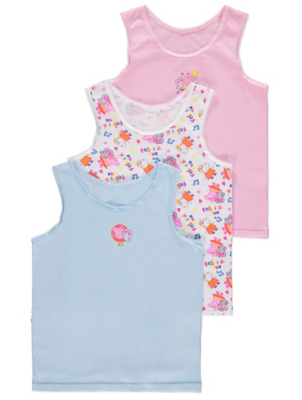 Peppa Pig Vests 3 Pack
