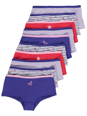 Assorted Striped Short Briefs 10 Pack