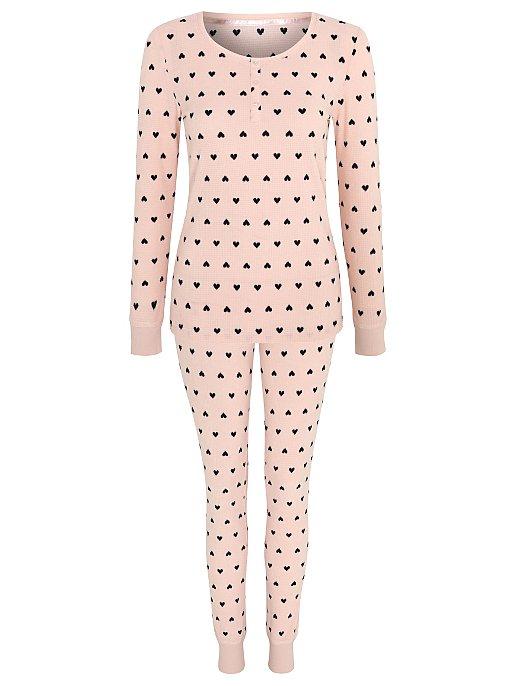 aea73cdd8eef Pink Heart Print Fleece Pyjamas