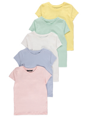 Assorted Pastel Short Sleeve Tops 5 Pack